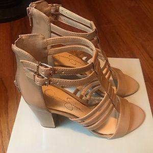 Nude Block heel sandal